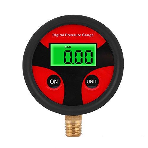 0-200 psi Manómetro con LCD Digital, Medidor Presion Neumaticos para motos, camiones, coche