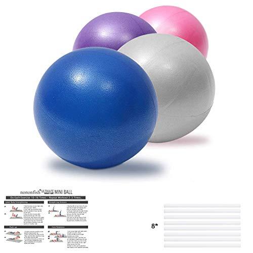 nononfish Pilates-Ball – 25 cm Gymnastikball für Yoga, Bauchmuskeltraining, Schultertherapie, Stärkung der Rumpfmuskulatur zu Hause, 4 Stück