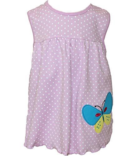 Baby-Mädchen Sommerkleid Modell 4 Pastell lila in Einheitsgröße Shirt Kleid ohne Ärmel