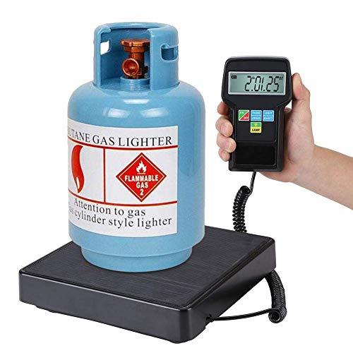 Básculas de refrigeración, 220 lb / 100 kg Básculas electrónicas para refrigerador para carga de precisión, calibración, básculas de peso para calefacción, ventilación, aire acondicionado con pantall