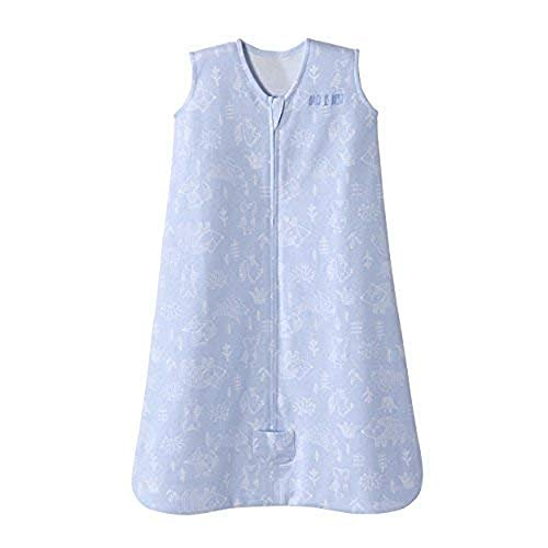 Halo Sleepsack Wearable Blanket Cotton Woodland Etch Blue, Size Large