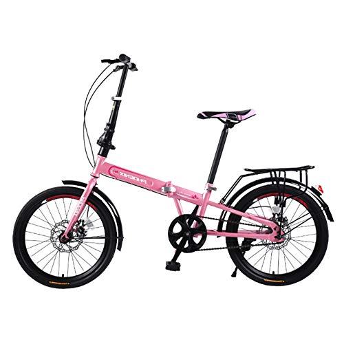 Axdwfd Infantiles Bicicletas Bicicleta Plegable para Adultos para Hombres y Mujeres ultrafiro portátil de 20 Pulgadas de 20 Pulgadas Tipo de Rueda pequeña de la Bicicleta para Adultos