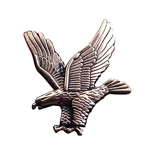 HCMA NuevoBroche de pájaro de águilaDorada de Metal Retropara Hombre Broche de Solapa Insignia Pin Hebilla Traje Camisa Accesorios