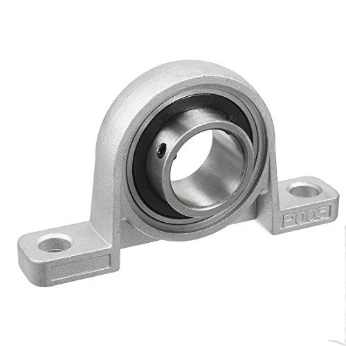 uxcell KP005 25mm Bore Zinc Alloy Inner Ball Mounted Pillow Block Insert Bearing