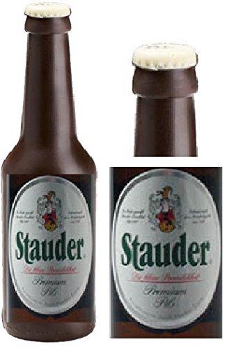 05#011721 Schokolade, Bierflasche, in ORIGINAL Größe, Vatertag, Stauder, Bierflasche aus Schokolade, Schokoladenbierflasche, echte Etiketten