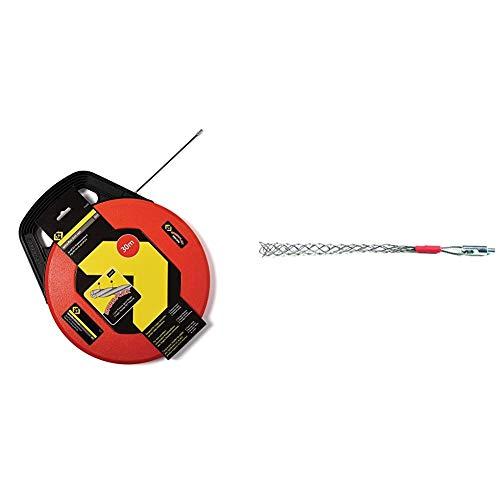 C.K T5530 Einziehband Spira-Flex 30 Meter & C.K T5442 06 Mightyrod Kabelstrumpf für Kabel von 6-10 mm