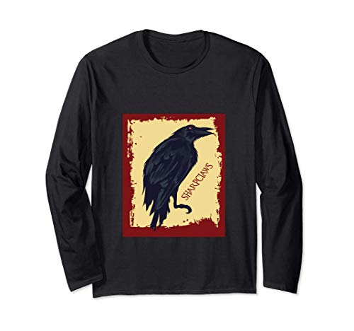Gothic Sharp Corbeau Corbeau Noir Cadeau Manche Longue