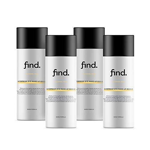 Marchio Amazon - find. Struccante waterproof per occhi ( 4x150 ml )