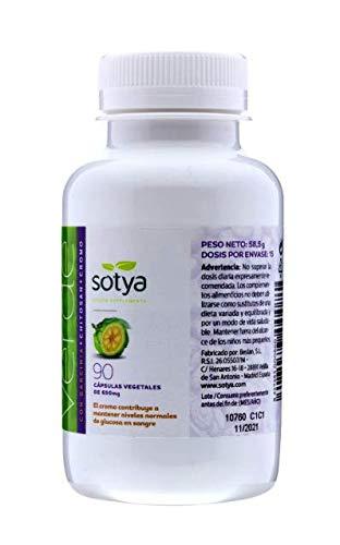 SotyaBelsan Cafe Verde Con Garcinia Cambogia +Chitosan + Cromo 90 Capsulas 650 mg 90 Capsulas, Quema Grasas para Adelgazar y Perdida de Peso, Para Control de Peso, para control del apetito. Natural.