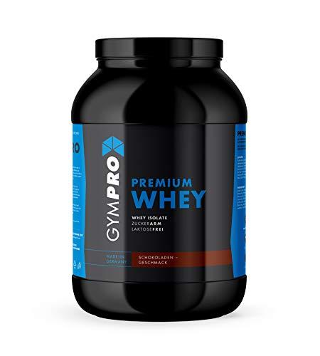 GymPro - Premium Whey Protein Pulver (Schokolade, 2500g), laktosefrei mit 88% reinem Eiweiss. Whey Isolat & Whey Konzentrat mit Aminosäuren (BCAA)