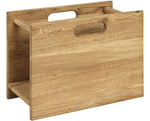 Haku Möbel Zeitungsständer - Massivholz Eiche geölt (Ryoal Oak) Höhe 30 cm