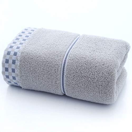 LLKK Toallas de algodón,Toallas de Lino,Accesorios de baño,Toallas de algodón densas de Doble Vuelta,Tela de Franela (2 Piezas)
