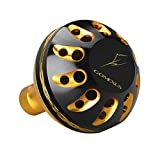 GOMEXUS Power Knob Compatible for Shimano Nasci Sahara FI 1000-5000 Dawia Exceler LT 1000-4000 Spinning Reel Handle Knob Direct,Daiwa BG Penn Battle II Drill Metal 38mm