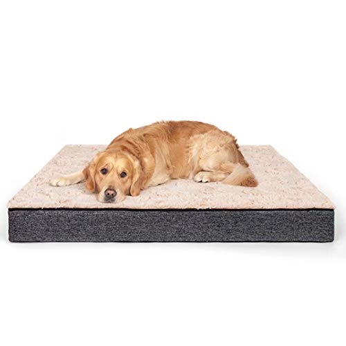 Dog Bed, Orthopedic Foam Pet Bed, Removable Cover and Non-Slip Liner, Crate Mat for Small Medium Large Dogs