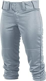 Rawlings Womens Low-Rise Belted Pant; 150 Cloth WRB150, Grey, Medium