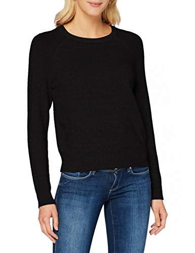 ONLY Damen ONLLESLY Kings L/S KNT NOOS Pullover, Schwarz (Black Black), Large (Herstellergröße: L)