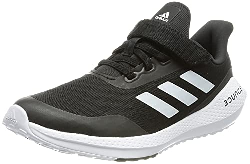 adidas EQ21 Run EL K, Zapatillas de Running, NEGBÁS/FTWBLA/NEGBÁS, 33 EU