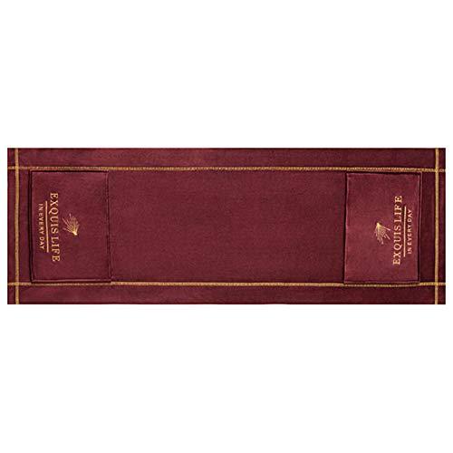 POHOVE Hotte de four à micro-ondes Broderie anti-poussière nordique universelle à l'huile avec poches de rangement pour la décoration de la maison, accessoires de bureau (rouge)