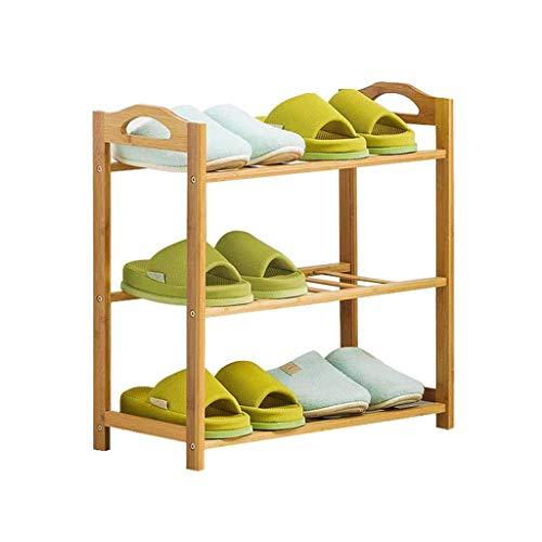 LJXLXY Zapateros Zapatero de bambú Multicapa con asa Rack de Almacenamiento doméstico Estante Simple (Color de Registro) Zapateros Modernos (Color : Five Floors, Size : 50cm)