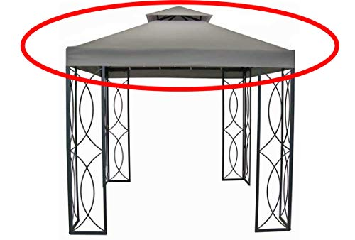 The Outdoor Patio Store Garden Treasures 300D High Grade Replacement Canopy for 8ft x 8ft Gazebos (Square)