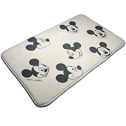 Duwamesva - Alfombrilla de baño con diseño de Mickey Mouse, antideslizante, absorbe la humedad, alfombra para interiores y exteriores