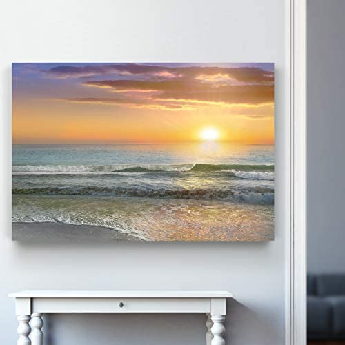 Renditions Gallery Landscape Blue Ocean Sea Beach Canvas Wall Art Pictures Prints Modern Seascape product image