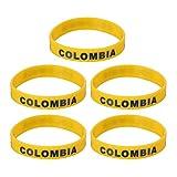 BESPORTBLE 5 Pulseras de Silicona de País de Colombia Pulsera Deportiva de Moda para La Copa del Mundo de 2022 Pulsera de Silicona Pulsera Deportiva de Goma 2021 Recuerdos de Fiesta de