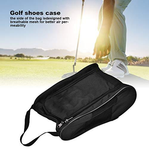 Acogedor Shoe Bags,Travel Golf Shoe Organizer Bags/Boxes - Breathable Nylon with Zipper Sports Shoes Bags for Men Women (Black)(A)