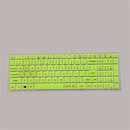 Keyboard Cover Protector Keyboard Protective Cover skin Protector for 15.6' Acer NITRO 5 AN515-52 AN515 AN5 VX 15 VX5-591G V 17 Gaming VN7-793G 17.3 Washable ,Reusable, (Color : Green)