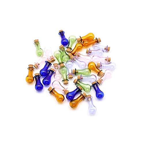 biteatey Mini botella de cristal con tapón de corcho, pequeña botella de cristal para fiestas, bodas, decoración DIY