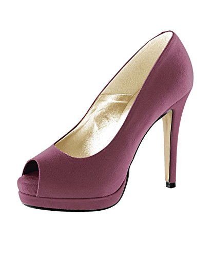 Heine Peeptoes, Damen Pumps (39, cyclam)