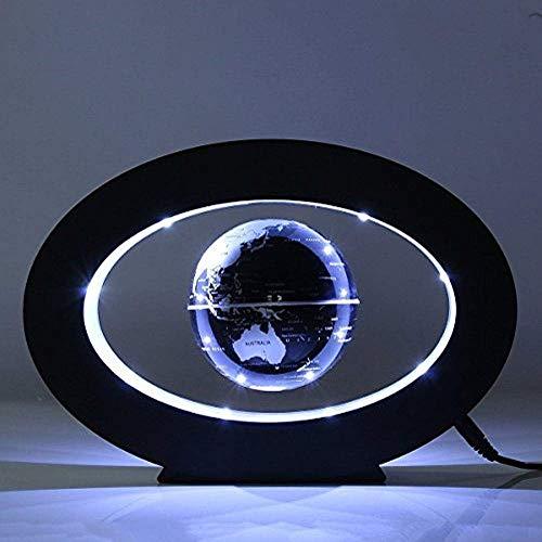 FUZADEL Floating Desk Levitating Globes Levitation Floating Globe Magnetic World Map LED Night Light