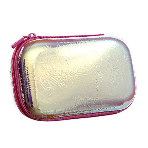 ZIPIT Metallic Pencil Box/Pencil Case/Storage Box, Silver-Rainbow