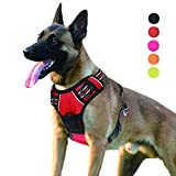 SENYE PET Dog Harness No Pull Escape Proof Adjustable Outdoor Pet Vest Reflective Oxford Material Easy Control Vest Harness for Small Medium Large Dogs