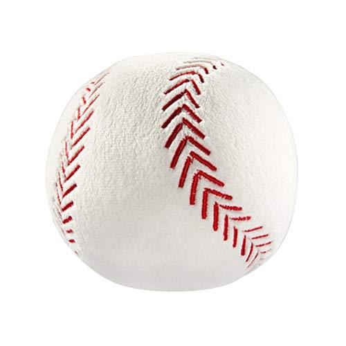 LIOOBO 1 unid 12 cm Relleno Béisbol Almohada Peluche Fluffy Deportes Bola Throw Pillow Suave Durable Juguete Deportivo Regalo para Niños Habitación Decoración Estilo de Invierno 🔥