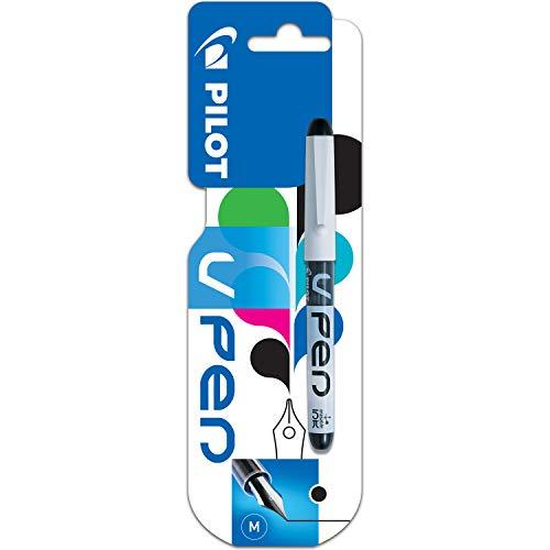 Pilot VPen Disposable Fountain Pen White Barrel 0.58 mm Tip (Retail Packaged) - Black, Single Pen