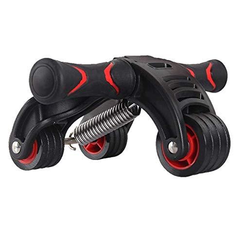 YDHWT Faltbare Triple-2-in-1 Ab Roller 4 Räder Set Bauch Abs Workout Fitness-Maschine Gym Muskeltraining Übungs-Rad mit Widerstand