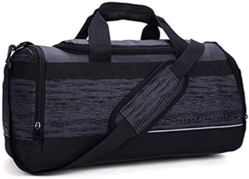 MIER sporttas Holdall heren sporttas reistas met schoenenvak, 40L, zwart, MEHRWEG
