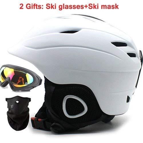 Männliche und weibliche Kinder-Skihelm integriert Erwachsenen Snowboardhelm Skiausrüstung Brille Maske (Color : NO.3, Size : XL)