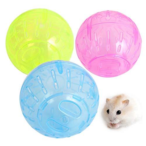 Juguete for Mascotas Pequeño hámster Ejecución de Bola, Color al Azar de Entrega, 10cm Huangchuxin