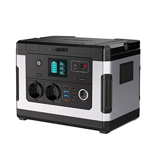 SUAOKI G500 Generador Solar portátil,500Wh Estación de almacenamiento recargable, con 300W de onda sinusoidal pura CA, 12V DC, 12V de automóvil, Carga Rápida USB/Tipo-C para Campamento, Emergencia