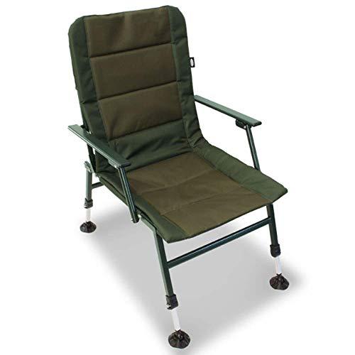 g8ds® XPR Stuhl inklusive Vier Schlammfüßen und Armlehnen Karpfenangeln Camping Outdoor