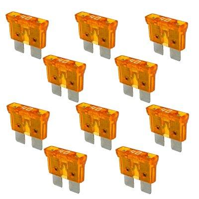10 x Flachstecksicherung - Sicherung 40A / 32V / orange