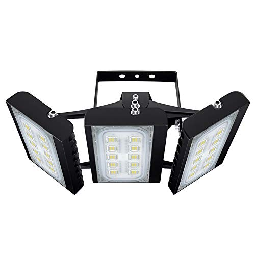 CHICLUX 150W LED Outdoor Leuchte für Garagen, 13500 LM, 6000K (Tageslichtweiß) Sicherheits-Flutlicht, Scheinwerfer mit verstellbarem Kopf für Scheune, Patio, Hof