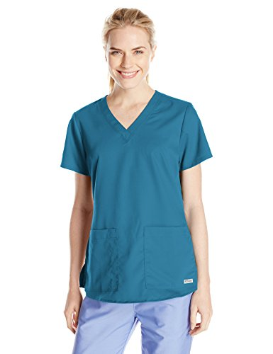 Barco-Greys-Anatomy-Womens-71166-Two-Pocket-V-Neck-Scrub-Top-With-Shirring-Back