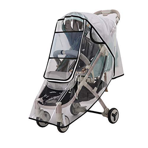 LITIAN Poussette Couverture de Pluie Protection Vent et la Pluie Couverture Universal Rain Cover Grand Calibre d'auto pour bébé Couverture Couverture Wind Black Border