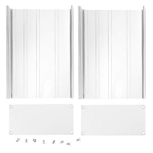 Aluminium projektlåda matt silver DIY elektronisk kretskortshölje 68x145x200mm för värmeavledning av elektroniska produkter