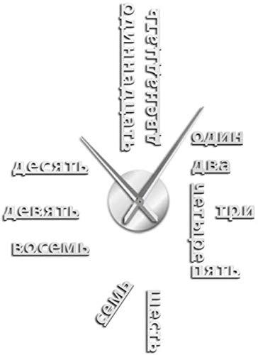 hutianyu vreemde taal Diy Giant Wandklok Grote Sovjet-nummers Grote Klok Horloge Baby Kamer Kleuterschool Decoratie Horloge 37 Inch