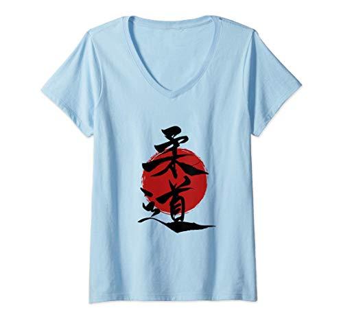 Damen Judo - Japanische Zeichen auf...