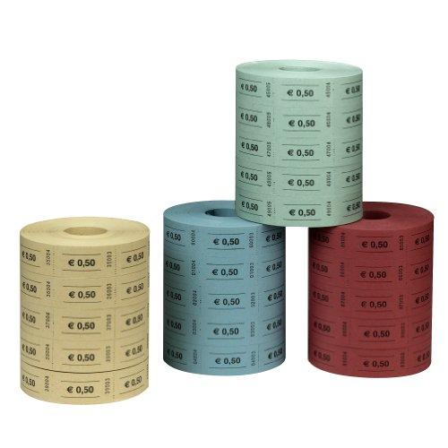 Herlitz 10733350 gekleurde markeerstiften 0,5 Euro, 5x1000 afscheuring